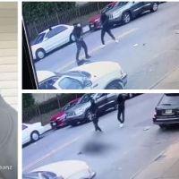 Caught on camera - Rapper Corey Thompson, aka Tripple Beanz, 29, shot dead execution-style by two masked gunmen on Newark street
