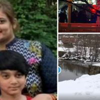 Bodies of New Jersey mom and her son, 11, are recovered from a pond after a six-year-old boy was discovered crying nearby and footprints were seen in the snow leading to the water's edge