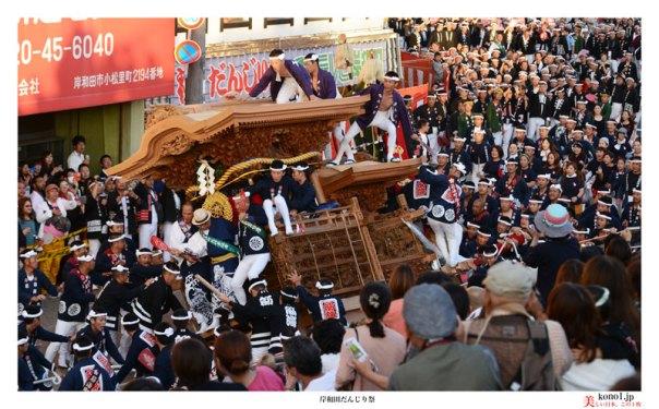 岸和田だんじり祭 カンカン場 やりまわし