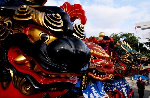 唐津くんち 唐津神社出発 十二番曳山 珠取獅子