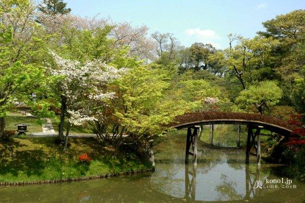 ブログ 桂離宮 庭園 土橋