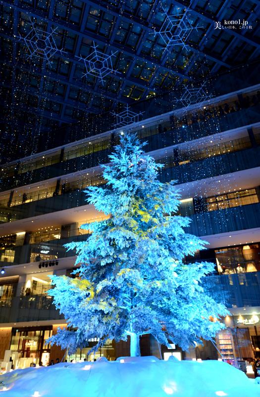 東京中央郵便局 KITTE きって クリスマスツリー イルミネーション