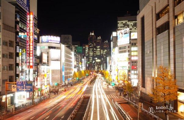 東京 夜景 新宿サザンシティ 渋谷区 クリスマスツリー シャンパンゴールド イルミネーション LED 小田急