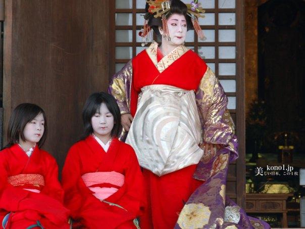 京都 壬生寺 節分 護摩焚 壬生狂言 ほうろく割 大念仏 花扇太夫道中