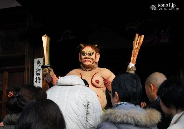 京都 廬山寺 節分会  鬼法楽 鬼踊り 鬼のお加持 法弓 追儺師 降魔矢
