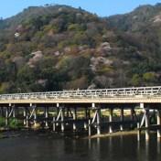 京都 嵐山 渡月橋 桂川 桜