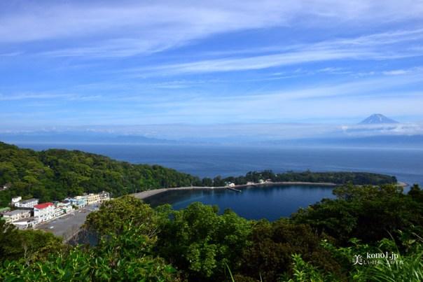 伊豆半島から見える富士山 西伊豆 大瀬崎