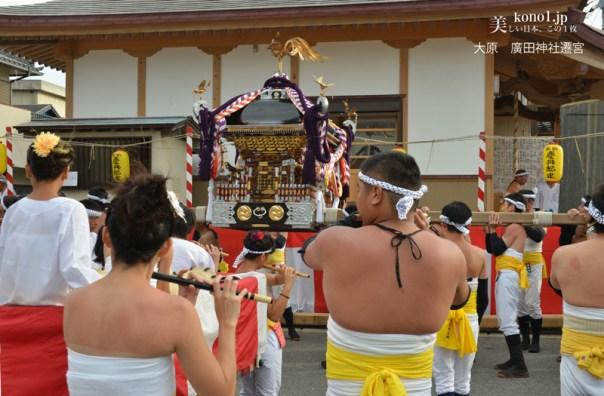 千葉県いすみ市 大原はだか祭 遷宮式 龍口神社 廣田神社