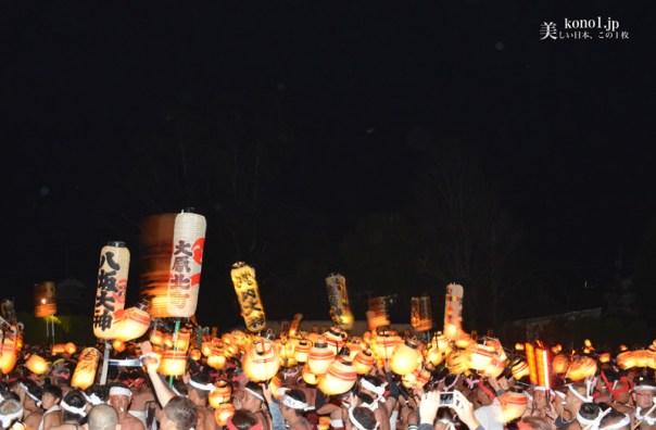大原はだか祭 大別れ式 勇壮関東随一 花火 提灯