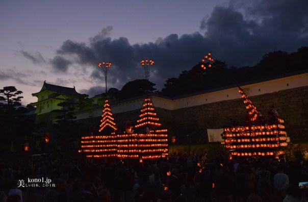 福島県 二本松市 提灯祭り後祭り 10月6日 日本三大提灯祭り 二本松神社 太鼓台 神輿 霞ヶ城