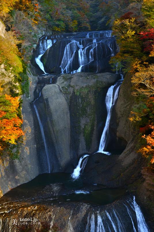 茨城県大子町 袋田の滝 紅葉
