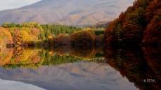 壁紙 湖 鏡写し 長老湖