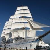 ふくやま港まつり 海王丸 帆船 セイルドリル 総帆展帆 福山港