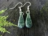 $16.00 Amount Available: 1 These earrings are made out of marble with hooks of alpaca (a mix of zinc, copper and nickel).