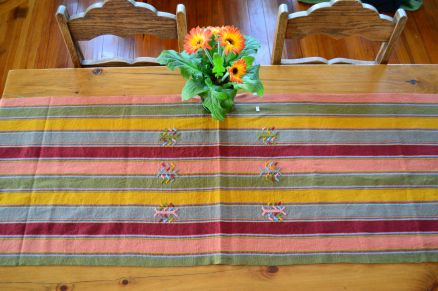 "5.A. $40.00 Measure: 17.5"" x 60"" (plus fringe) Hand washable. Amount available: 3 unit From San Gaspar Chajul, Quiché. Woven by Ixil-Maya women, of Asociación Chajulense."