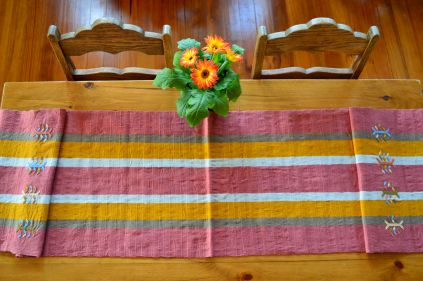 "11. $40.00 Measure: 15.5"" x 60"" (plus fringe) Hand washable. Amount available: 1 unit From San Gaspar Chajul, Quiché. Woven by Ixil-Maya women, of Asociación Chajulense."