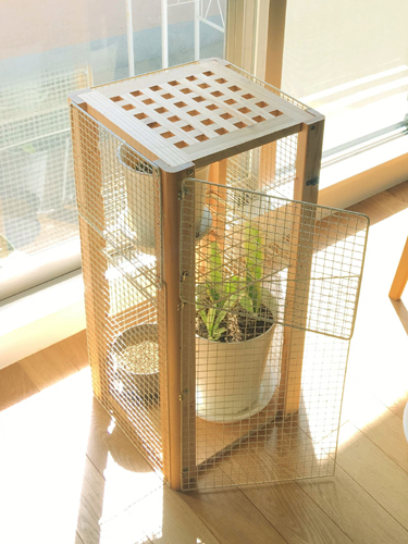 猫から観葉植物を守る棚