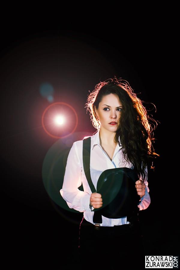 Joanna jako modelka w sesji biznesowej - Konrad Żurawski