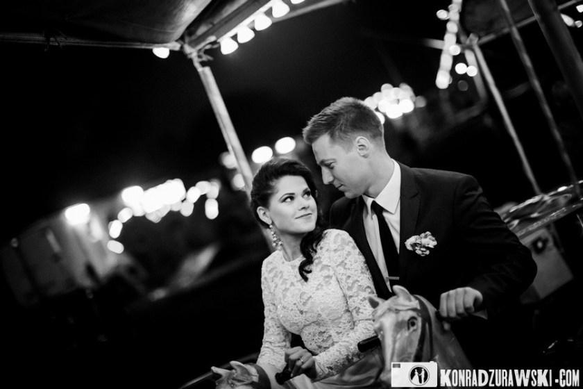 wesołe miasteczko fotografia ślubna