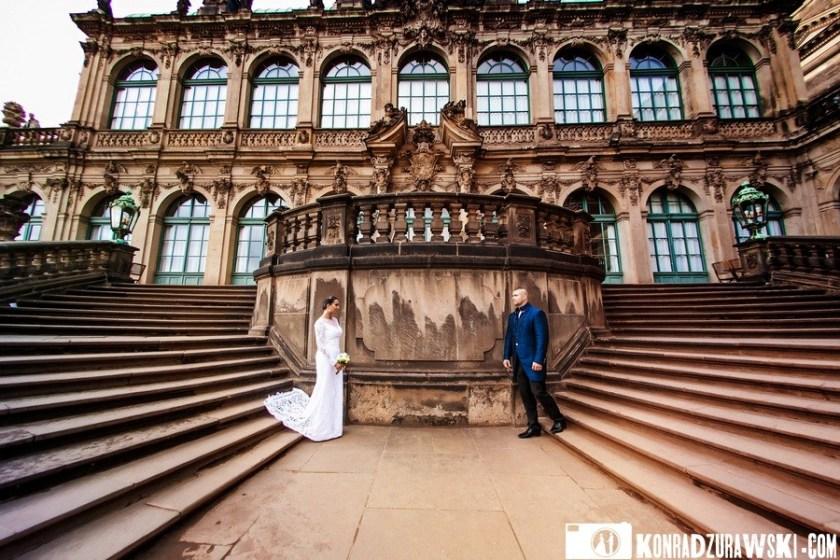 Drezno zachwyca na każdym kroku. A tak wygląda młoda para podczas sesji ślubnej | Konrad Żurawski
