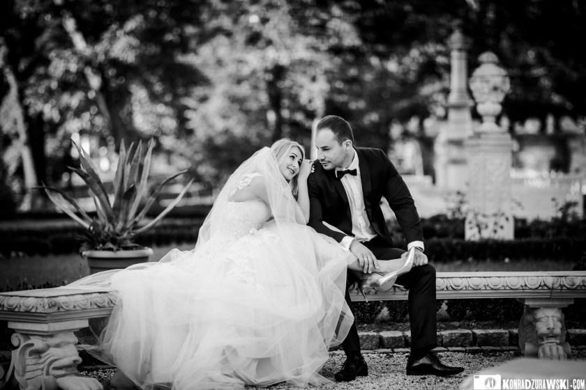 Magda i Marcin podczas ślubnej sesji zdjęciowej | Fotograf ślubny Konrad Żurawski