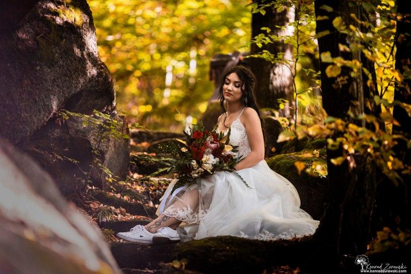 Dominika podczas sesji ślubnej - fotografia ślubna Jelenia Góra | Konrad Żurawski