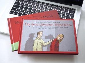 Mit dem schwarzen Hund leben von Ainsley und Matthew Johnstone – Kunstmann Verlag   Foto: konsensor.de