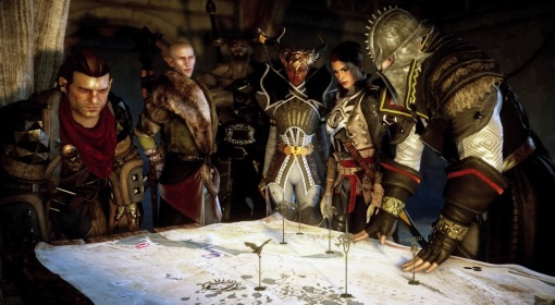 Varric-Solas-Iron-Bull-Vivienne-Inquisitor-star-in-this-Dragon-Age-Inquisition-screenshot