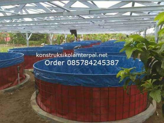 Testimoni konstruksi Jual kolam terpal 8