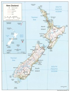 New-Zealand map