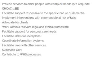 APSI Cert IV Aged Care course