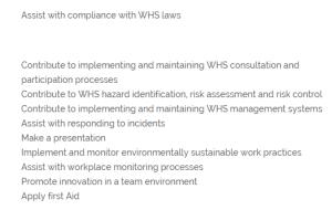 APSI CERT IV WHS