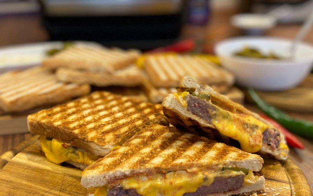 Cheeseburger Sandwich im OptiGrill