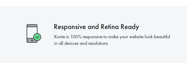 Konte WooCommerce theme - Retina ready
