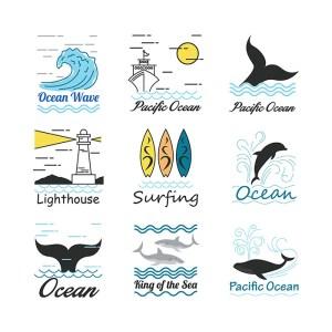 desain grafis ilustasi ikan dan laut kontenesia