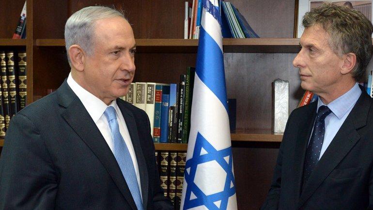MauricioMacri-Netanyahu-Israel