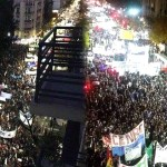 Multitudinarias marchas contra la política educativa de Mauricio Macri