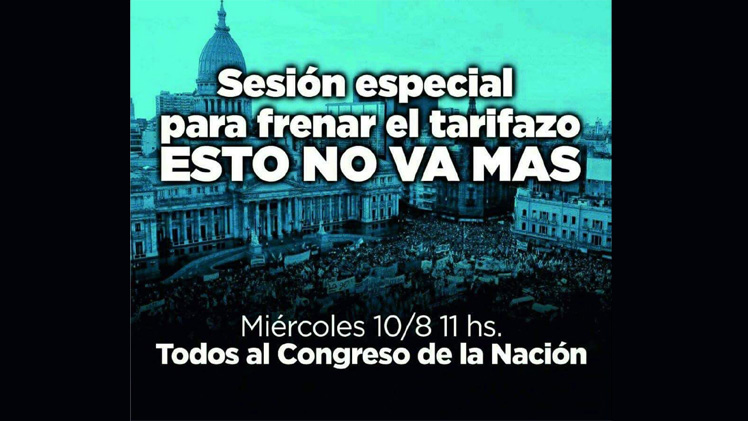 Tarifazo-Congreso