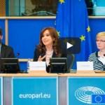 "Cristina Kirchner denunció en Bruselas la ""estafa electoral"" de Macri. Discurso completo"