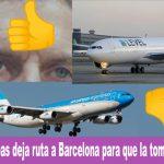 Escándalo: Quitan ruta de Aerolíneas a Barcelona y se la otorgan a una Low Cost.