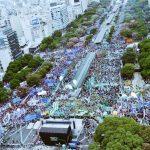 Histórica y multitudinaria movilización con más de 400.000 personas le dijo un rotundo NO a Macri y su reforma laboral