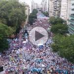 (VIDEO) Miles de trabajadores de la educación se movilizaron exigiendo una paritaria digna