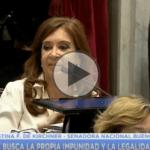 (VIDEO) Cristina denunció que «Hay un plan sistemático para apoderarse del Poder Judicial» por parte del gobierno