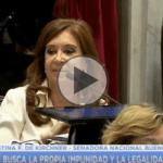 """(VIDEO) Cristina denunció que """"Hay un plan sistemático para apoderarse del Poder Judicial"""" por parte del gobierno"""