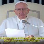 Francisco volvió a condenar con firmeza el aborto: «es como contratar a un sicario para resolver un problema»