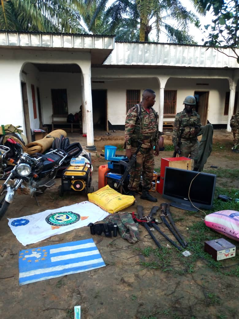 The Cameroon Military take down one more Amba Camp in Mbeme, SW region.