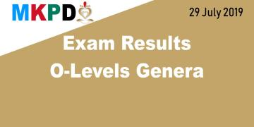 Exam Results O-Levels General - 29 July 2019