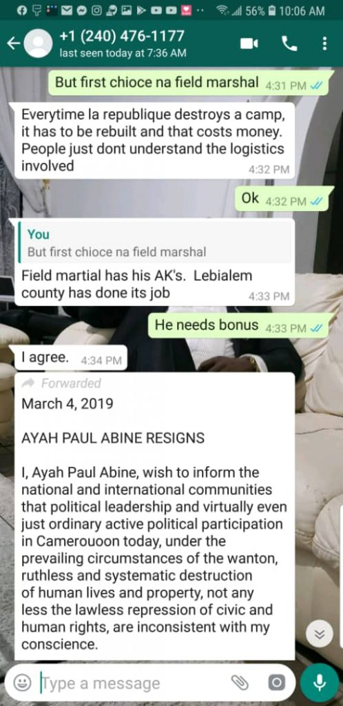 Ofcourse.. Ambazonians LOVE Ayah Paul.. I wonder why?