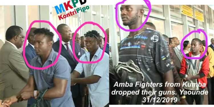 ex-Amba Boys arrive Nsimalen airport Yaounde - 31 Dec 2019