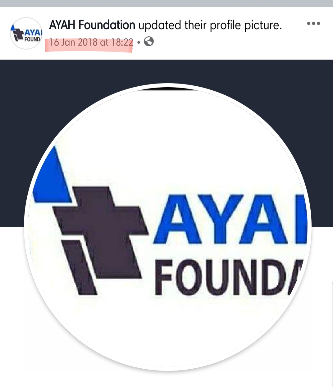 "Ayah ""Foundation"" was already taking advantage of gullible Cameroonians on Facebook even when the association was not yet registered, in Jan 2018, they already had a logo and a page on Facebook"